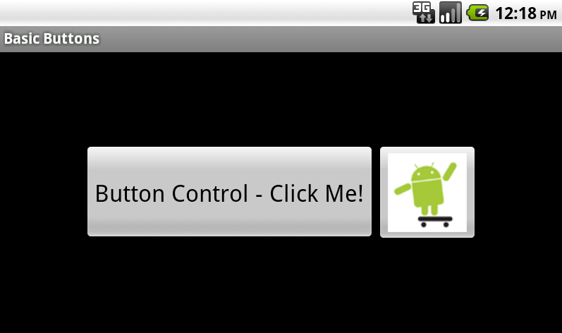Android screen with two types of button controls