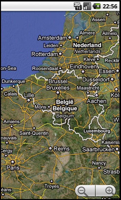 Android Maps Belgium Map View