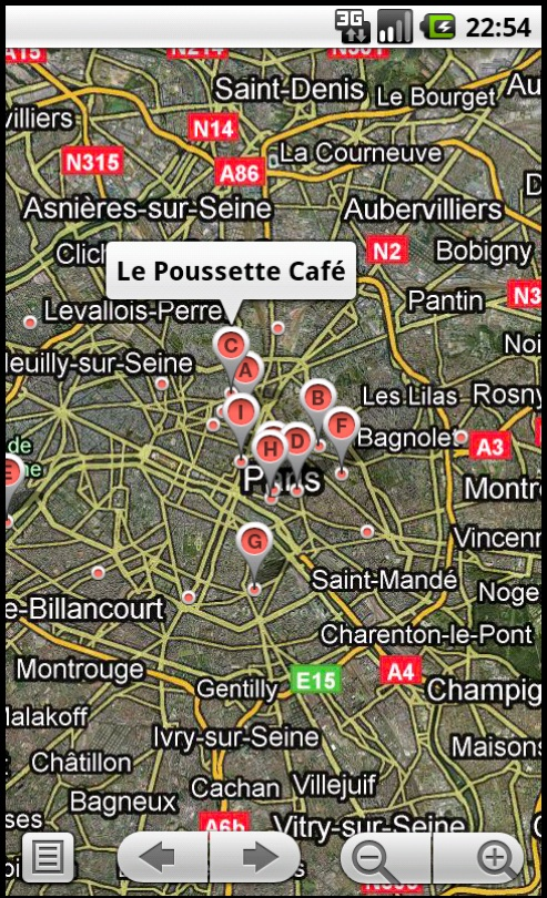 Coffee Shops Map View
