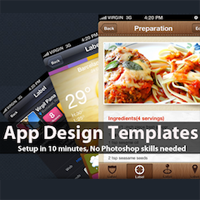 Win 2 iPhone App Design Templates From App Design Vault (x2)