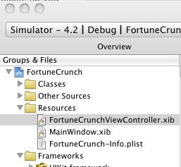 Selecting FortuneCrunchViewController.xib