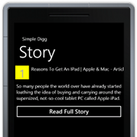 Using Silverlight to Create a Digg Client for Windows Phone 7
