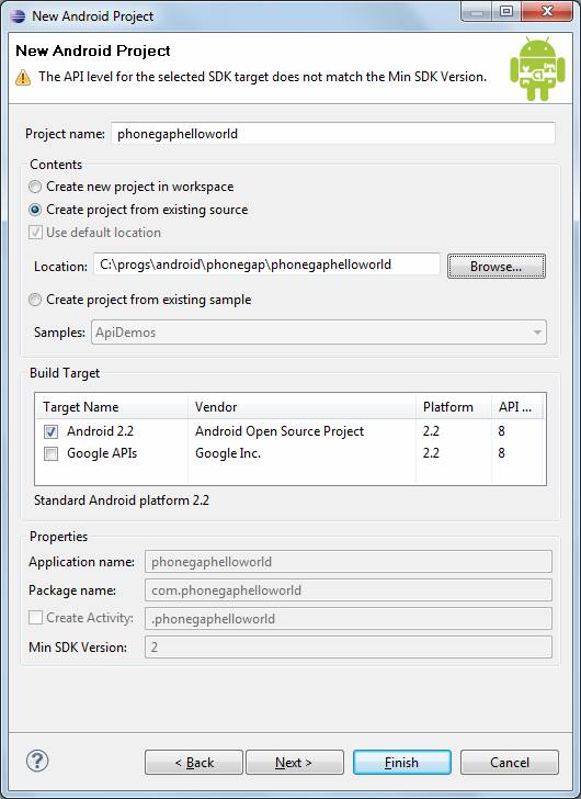 Configure an Android Eclipse Project