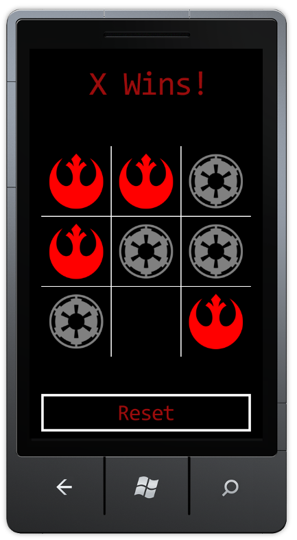 Tic-Tac-Toe using Star Wars icons