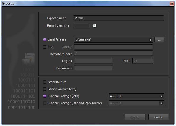 Exporting Game - Android