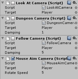 Multiple cameras in Inspector
