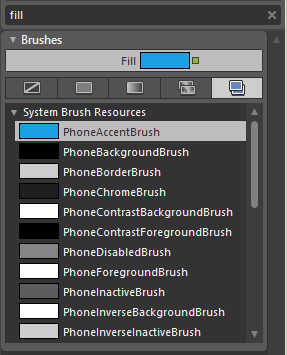Selecting the PhoneAccentBrush