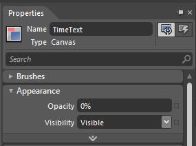 0s TimeText Opacity 0