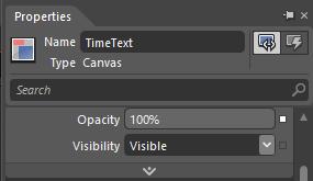 1s TimeText Opacity 100