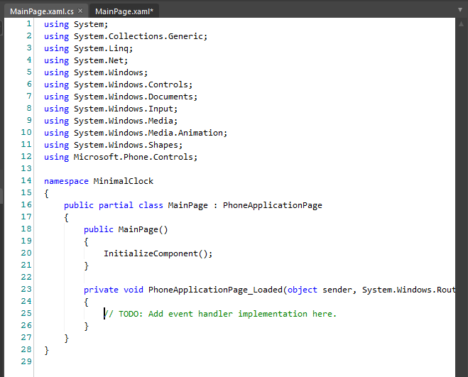 Code view