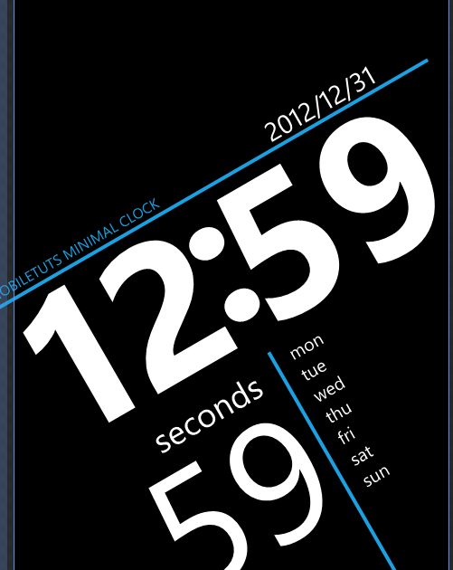 Rotated screen