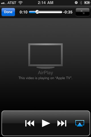Airplay Playing Message