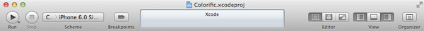 Creating Your First iOS Application - Xcode's Toolbar - Figure 6