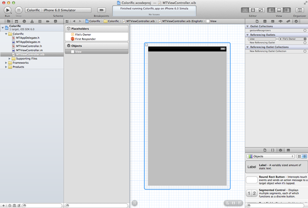 Creating Your First iOS Application - The Application's User Interface - Figure 12