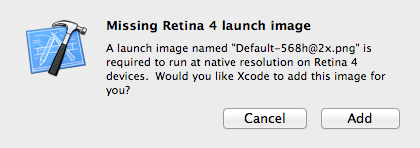 Xcode Prompt for Default-568h@2x.png Image