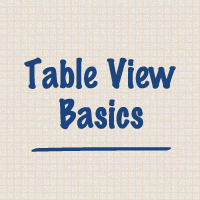 Table View Basics